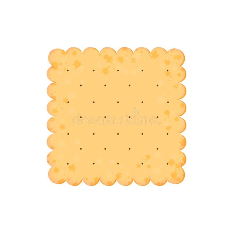 Κροτίδα υγείας Απομονωμένο μπισκότο: τετράγωνο r απεικόνιση αποθεμάτων