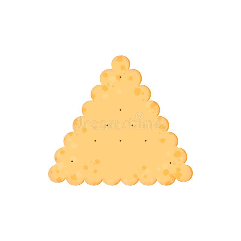 Κροτίδα υγείας Απομονωμένο μπισκότο: τρίγωνο r ελεύθερη απεικόνιση δικαιώματος