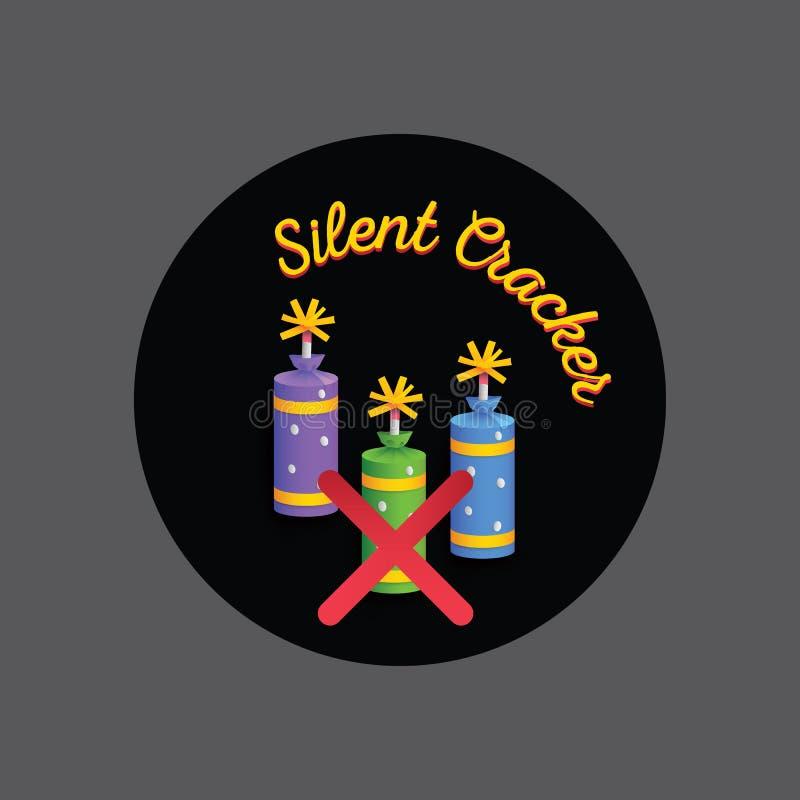Κροτίδες πυρκαγιάς φεστιβάλ Diwali Σιωπηλή κροτίδα διανυσματική απεικόνιση