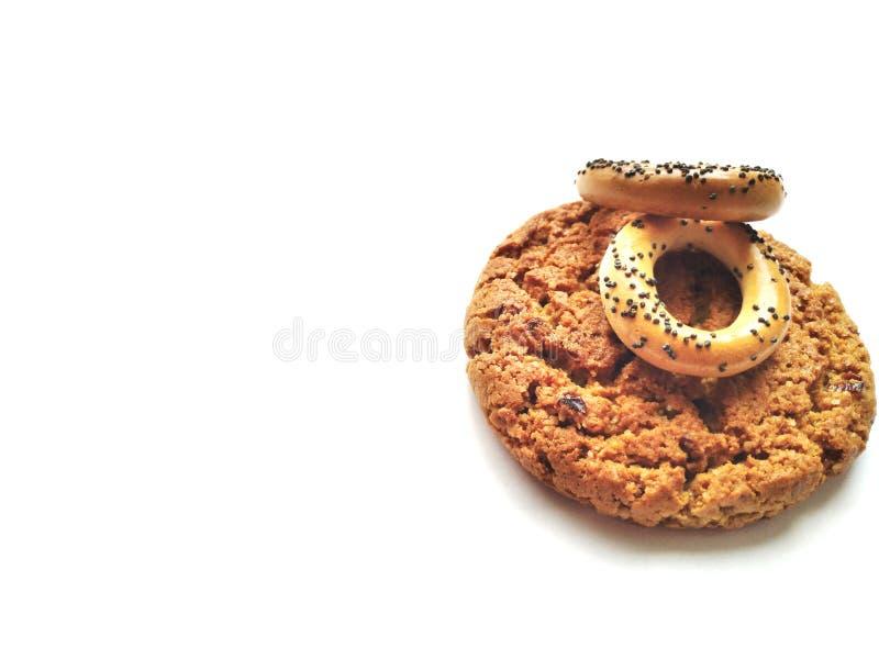 Κροτίδες και μπισκότα υποβάθρου στοκ φωτογραφία με δικαίωμα ελεύθερης χρήσης