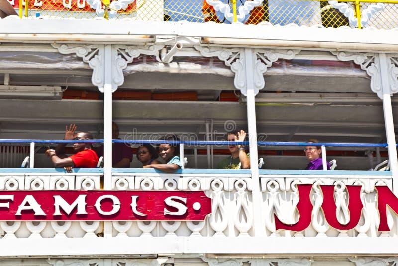 Κρουαζιέρα με τη βασίλισσα ζουγκλών riverboat στοκ φωτογραφίες
