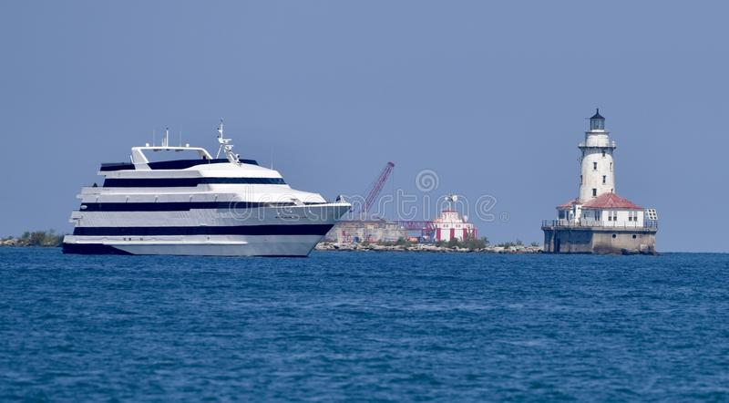 Κρουαζιερόπλοιο του Σικάγου στοκ εικόνα με δικαίωμα ελεύθερης χρήσης