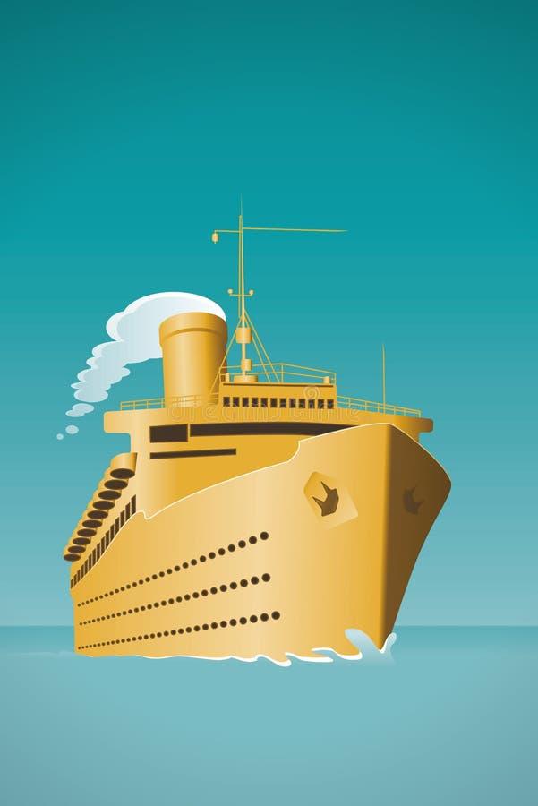 κρουαζιερόπλοιο απεικόνιση αποθεμάτων