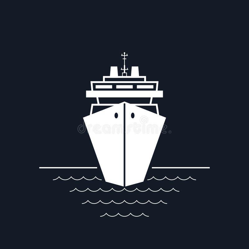 Κρουαζιερόπλοιο που απομονώνεται στο Μαύρο διανυσματική απεικόνιση
