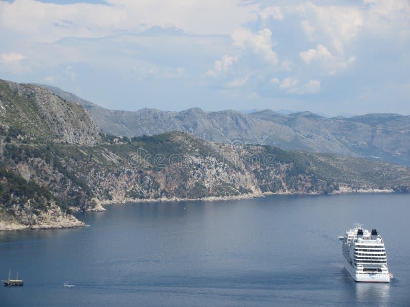 Κρουαζιερόπλοιο στην Αδριατική στοκ φωτογραφία με δικαίωμα ελεύθερης χρήσης