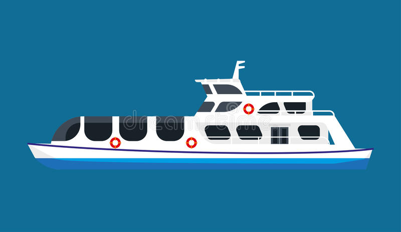 Κρουαζιερόπλοιο στον ωκεανό ελεύθερη απεικόνιση δικαιώματος