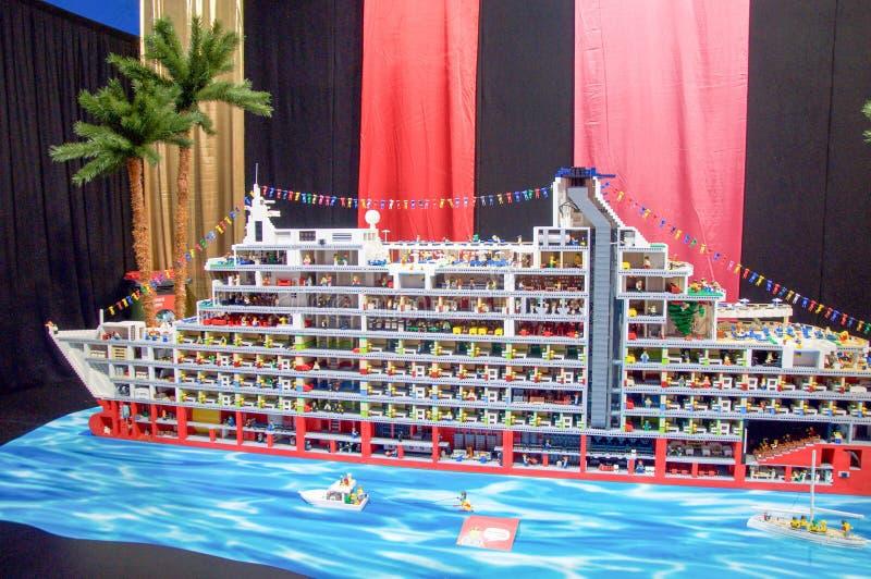 Κρουαζιερόπλοιο Lego στοκ εικόνα