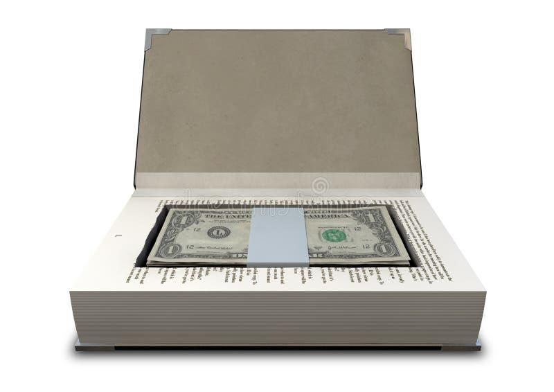 Κρυμμένα μετρητά σε ένα μέτωπο βιβλίων στοκ εικόνα με δικαίωμα ελεύθερης χρήσης
