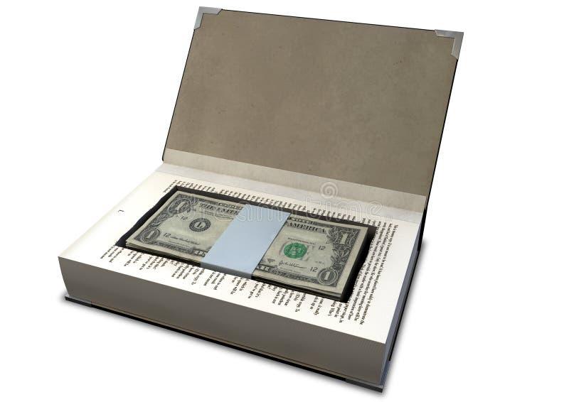 Κρυμμένα μετρητά σε μια προοπτική βιβλίων στοκ εικόνα με δικαίωμα ελεύθερης χρήσης