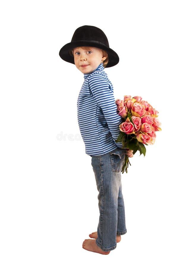 κρυμμένα τριαντάφυλλα στοκ εικόνες
