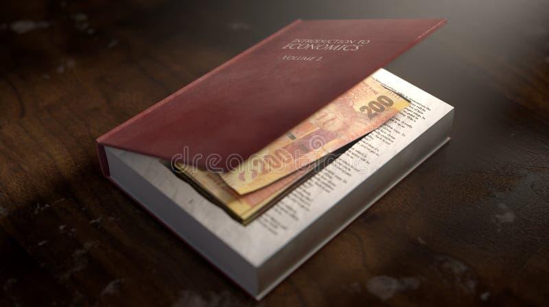 Κρυμμένες σημειώσεις σε ένα βιβλίο απεικόνιση αποθεμάτων