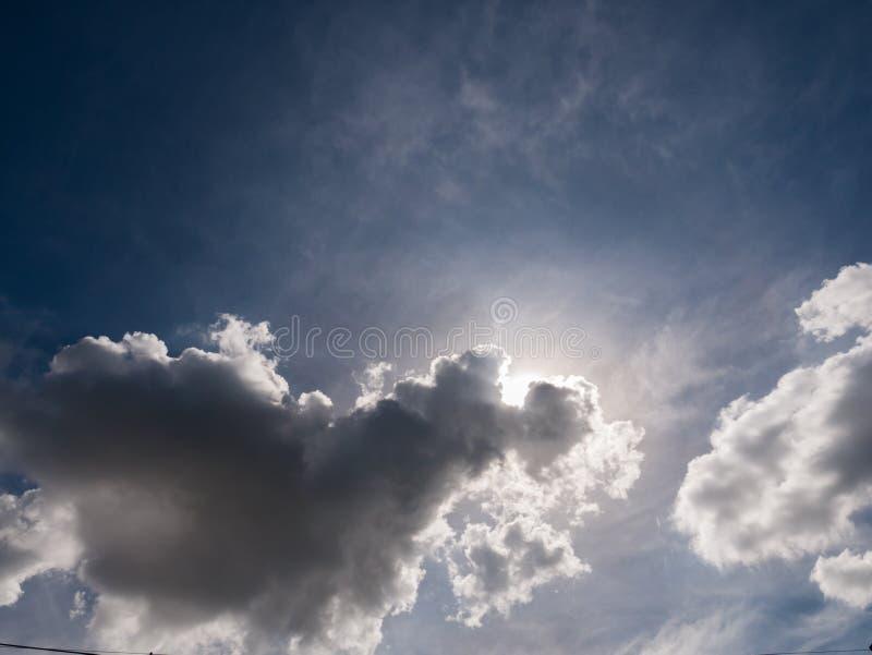 Κρυμμένη η σύννεφο The Sun στοκ φωτογραφίες με δικαίωμα ελεύθερης χρήσης
