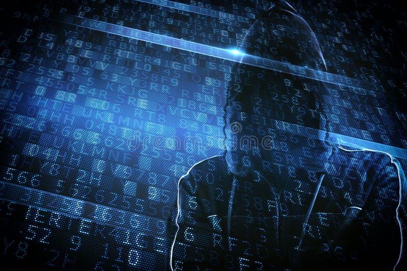 Κρυμμένη ταυτότητα ενός χάκερ στοκ εικόνες
