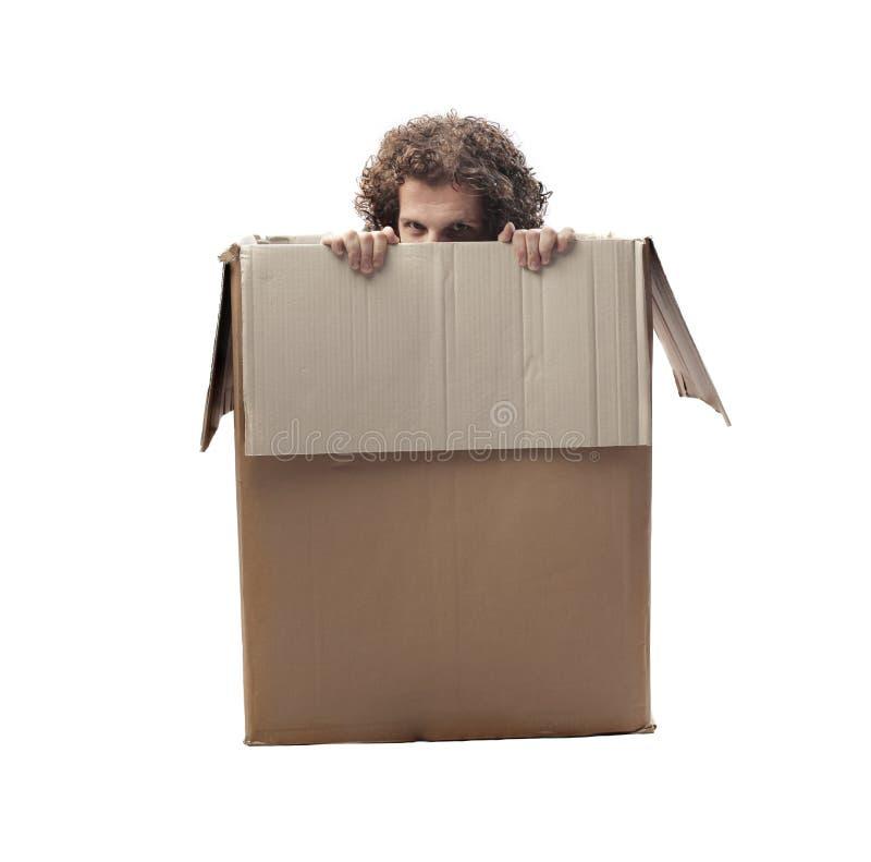 Κρυμμένο άτομο στοκ εικόνες