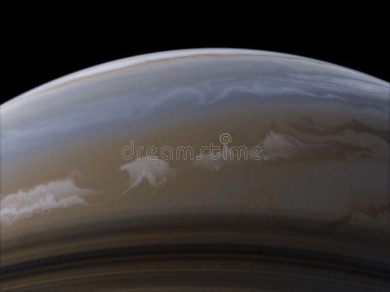 Κρόνος Διαστημική ταπετσαρία επιστημονικής φαντασίας, απίστευτα όμορφοι πλανήτες, γαλαξίες, σκοτεινή και κρύα ομορφιά ατελείωτου στοκ εικόνα με δικαίωμα ελεύθερης χρήσης