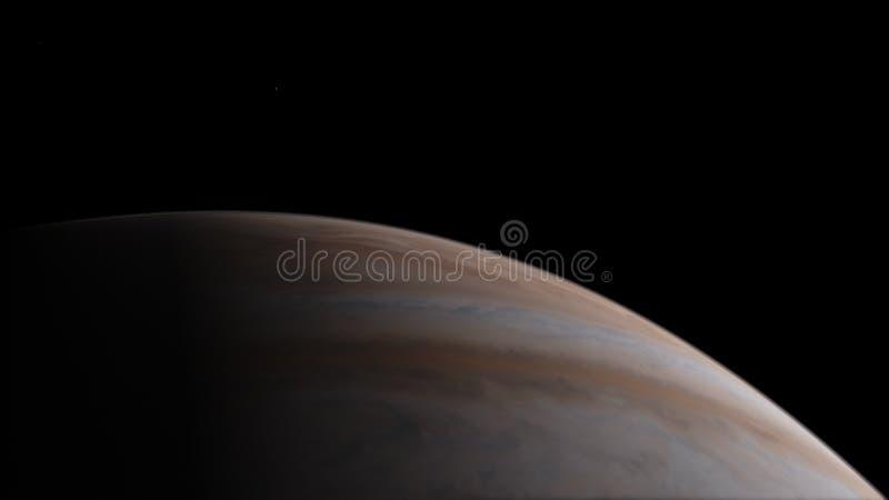 Κρόνος Διαστημική ταπετσαρία επιστημονικής φαντασίας, απίστευτα όμορφοι πλανήτες, γαλαξίες, σκοτεινή και κρύα ομορφιά ατελείωτου στοκ φωτογραφία με δικαίωμα ελεύθερης χρήσης