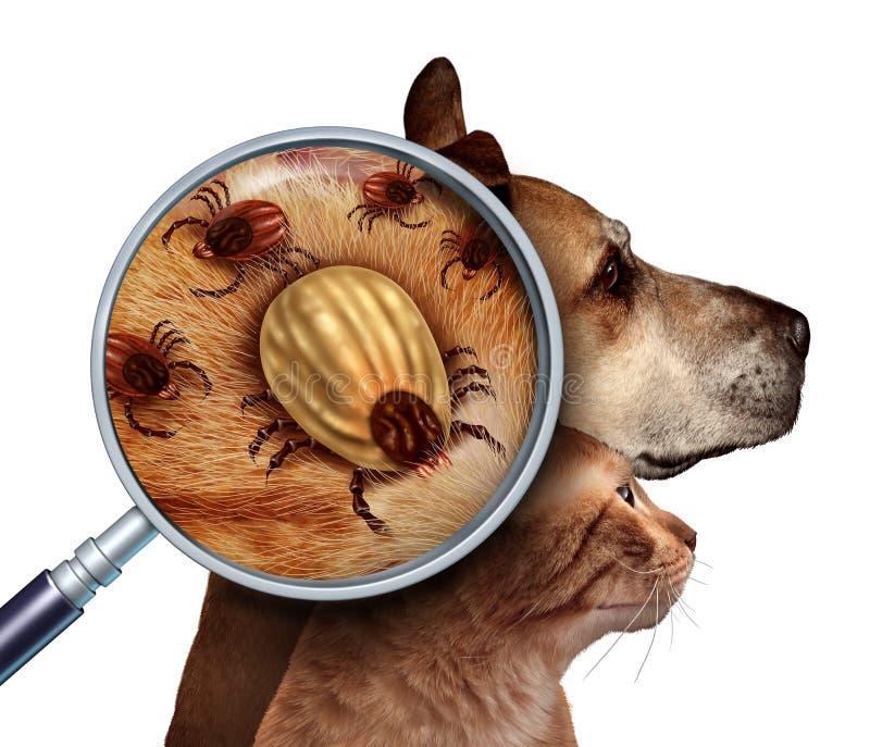 Κρότωνας της Pet ελεύθερη απεικόνιση δικαιώματος