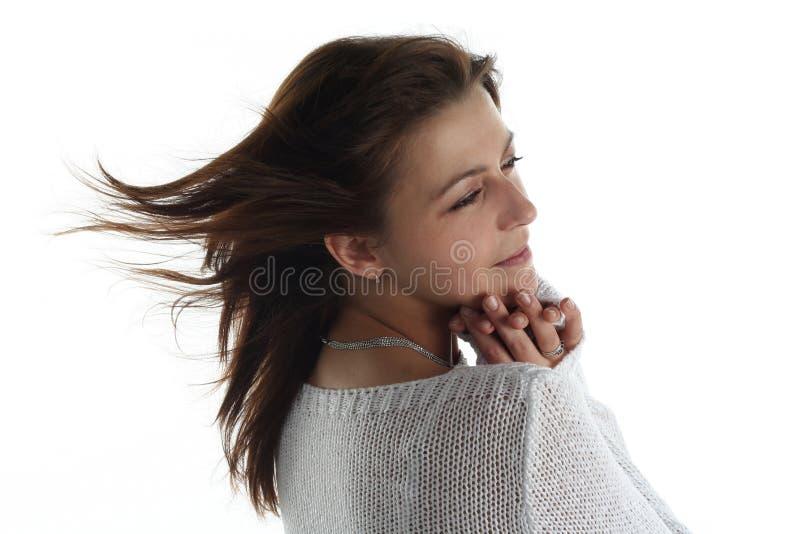 κρύα γυναίκα παγώματος στοκ φωτογραφία με δικαίωμα ελεύθερης χρήσης