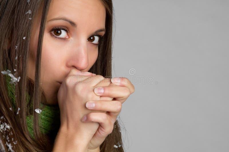 κρύα γυναίκα στοκ φωτογραφίες με δικαίωμα ελεύθερης χρήσης
