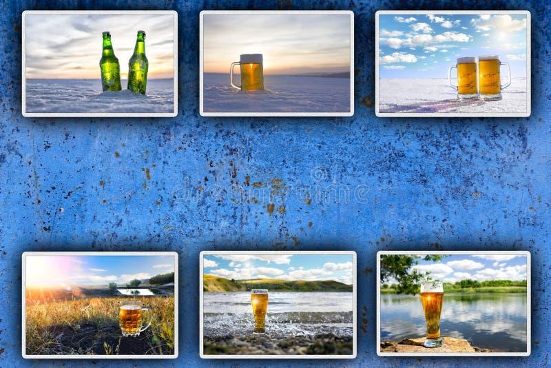 Κρύα μπύρα Ανασκόπηση για τη διαφήμιση στοκ φωτογραφίες