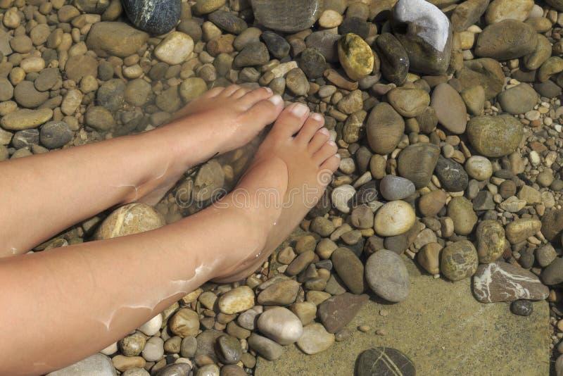 κρύα πόδια ύδατος στοκ εικόνα