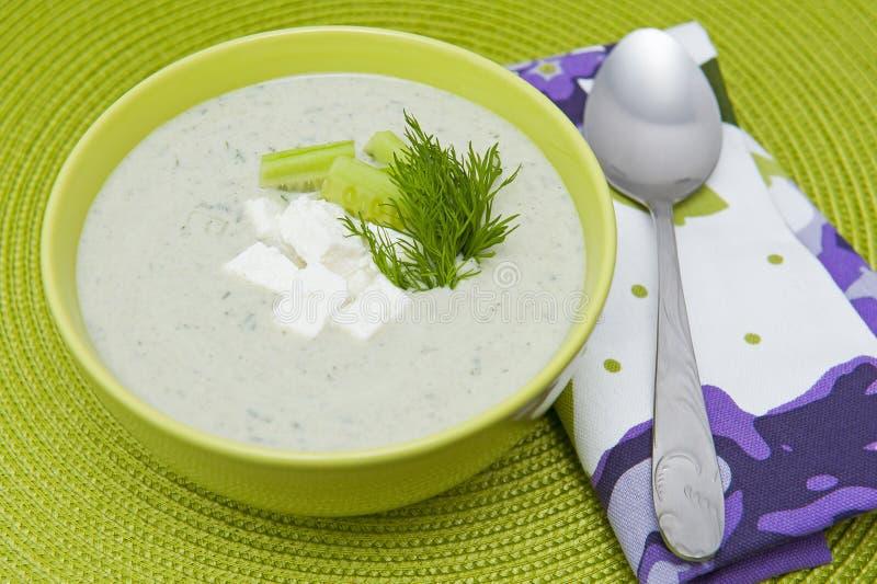 κρύα σούπα αγγουριών στοκ εικόνες με δικαίωμα ελεύθερης χρήσης