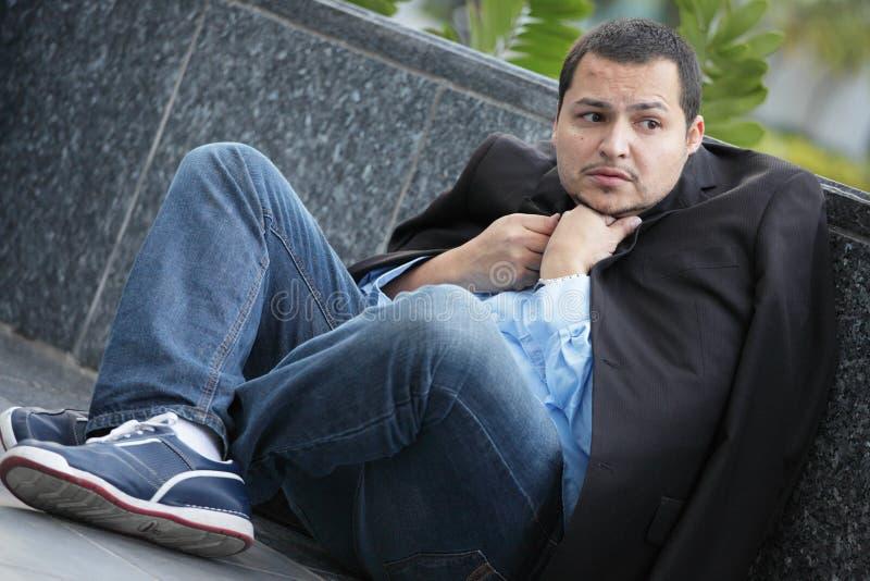 Κρύος και άνεργος επιχειρηματίας στοκ εικόνες με δικαίωμα ελεύθερης χρήσης