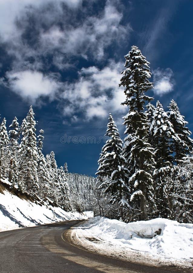 κρύος οδικός χιονώδης χε στοκ εικόνες