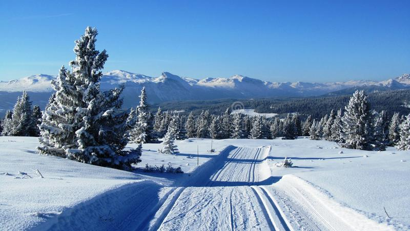 κρύος χειμώνας της Νορβη&gamma στοκ εικόνες