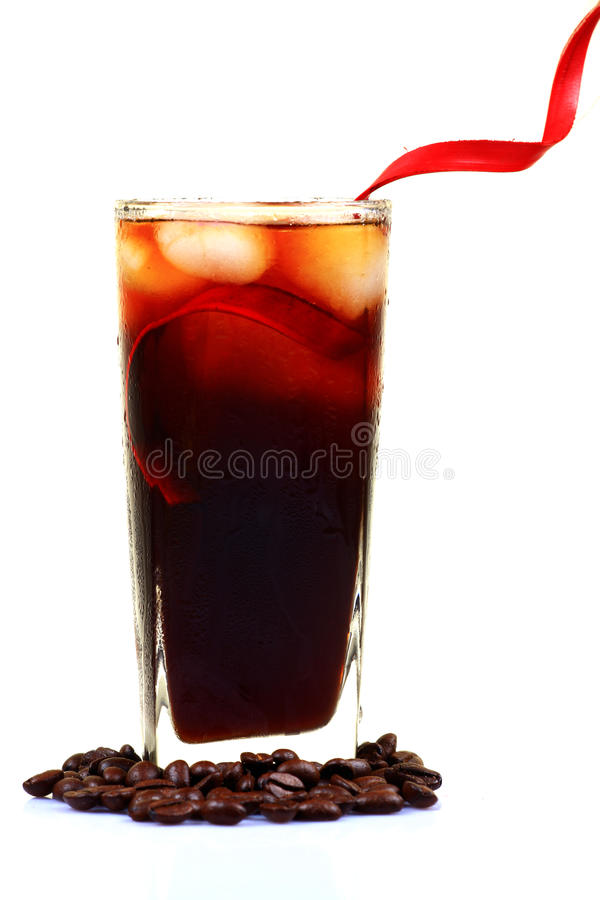 κρύο γυαλί καφέ στοκ εικόνες