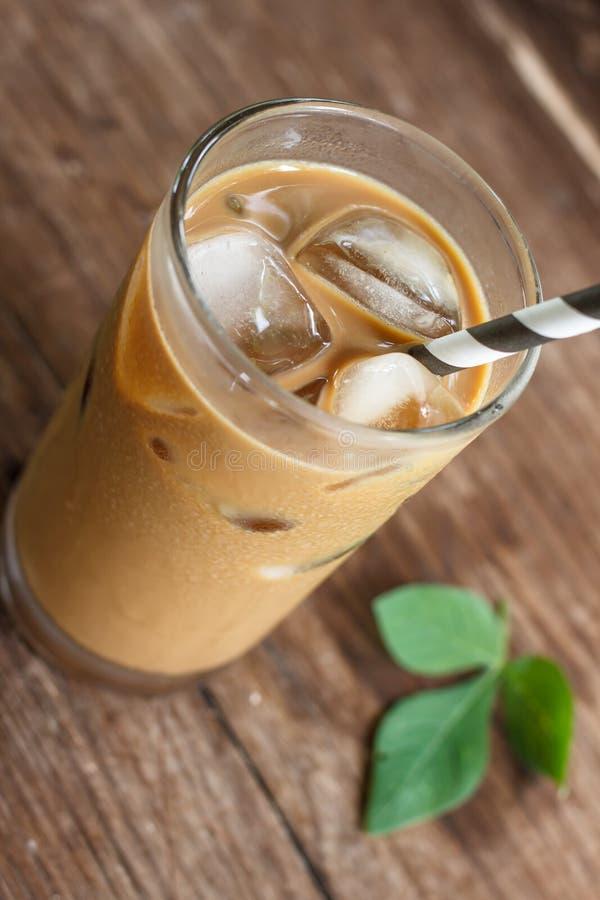 κρύο γυαλί καφέ στοκ εικόνα