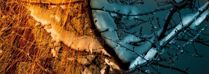 κρύο καυτό στοκ φωτογραφία