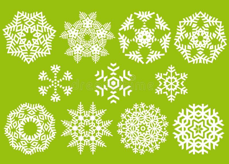 κρύσταλλα Χριστουγέννων απεικόνιση αποθεμάτων