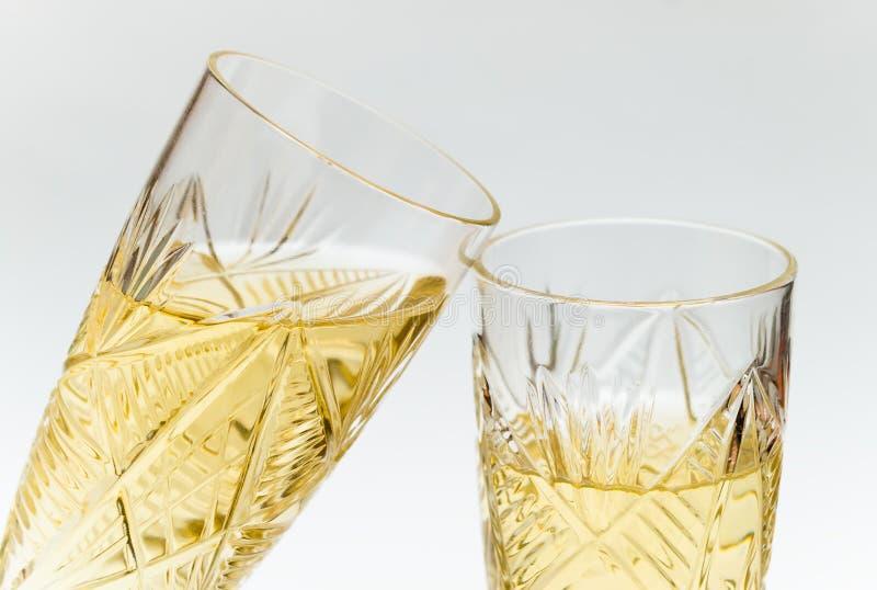 κρύσταλλο δύο wineglasses στοκ φωτογραφία με δικαίωμα ελεύθερης χρήσης
