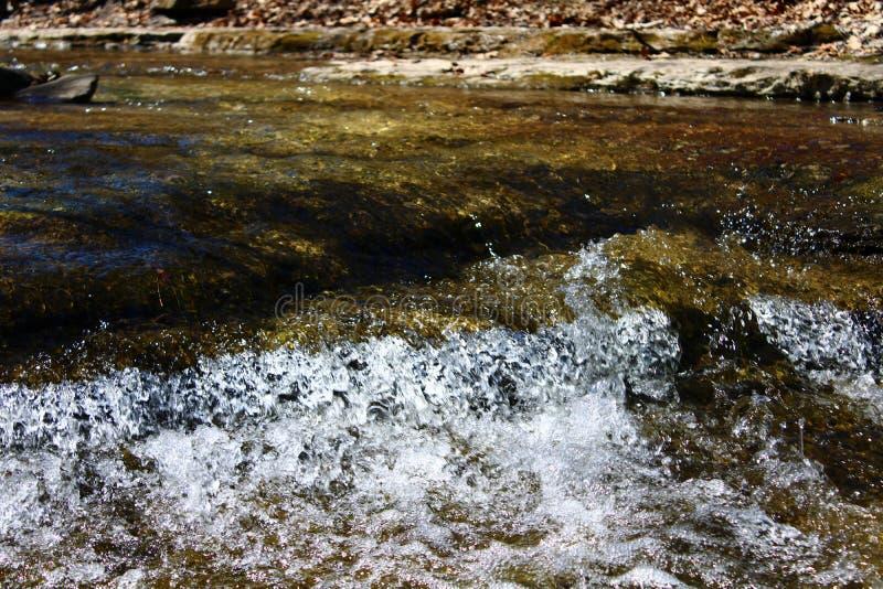 Κρύσταλλο - καθαρίστε το νερό ελεύθερης ροής από έναν κολπίσκο στοκ φωτογραφία με δικαίωμα ελεύθερης χρήσης