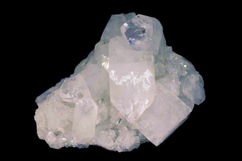 Κρύσταλλο Apophyllite, κρύσταλλα ο πνευματικός σύμβουλος στοκ εικόνες