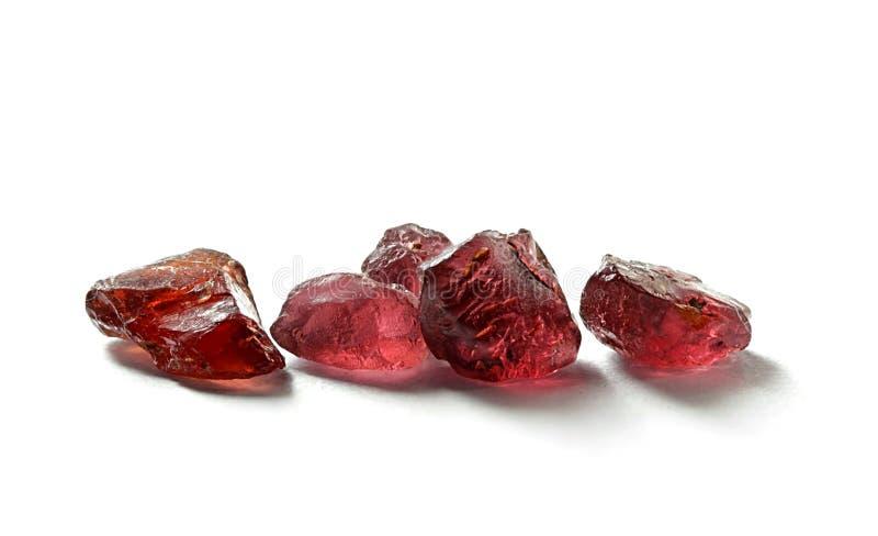 Κρύσταλλο ποιοτικών γρανατών πολύτιμων λίθων από το φινλανδικό Lapland στοκ εικόνες με δικαίωμα ελεύθερης χρήσης