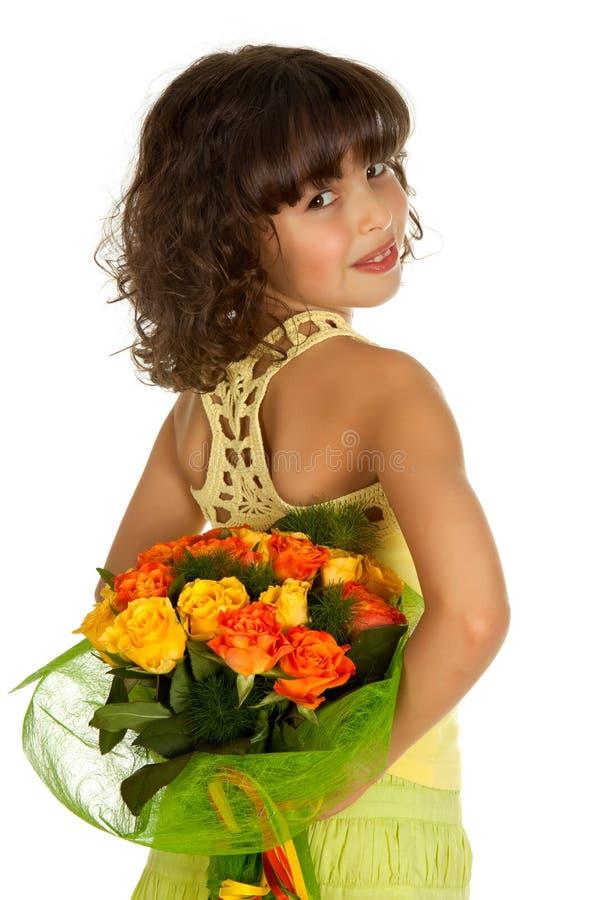 κρύψιμο κοριτσιών λουλ&omicro στοκ φωτογραφία με δικαίωμα ελεύθερης χρήσης