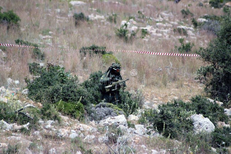 Κρύψιμο στρατιωτών σφαιρών χρωμάτων στοκ φωτογραφίες με δικαίωμα ελεύθερης χρήσης