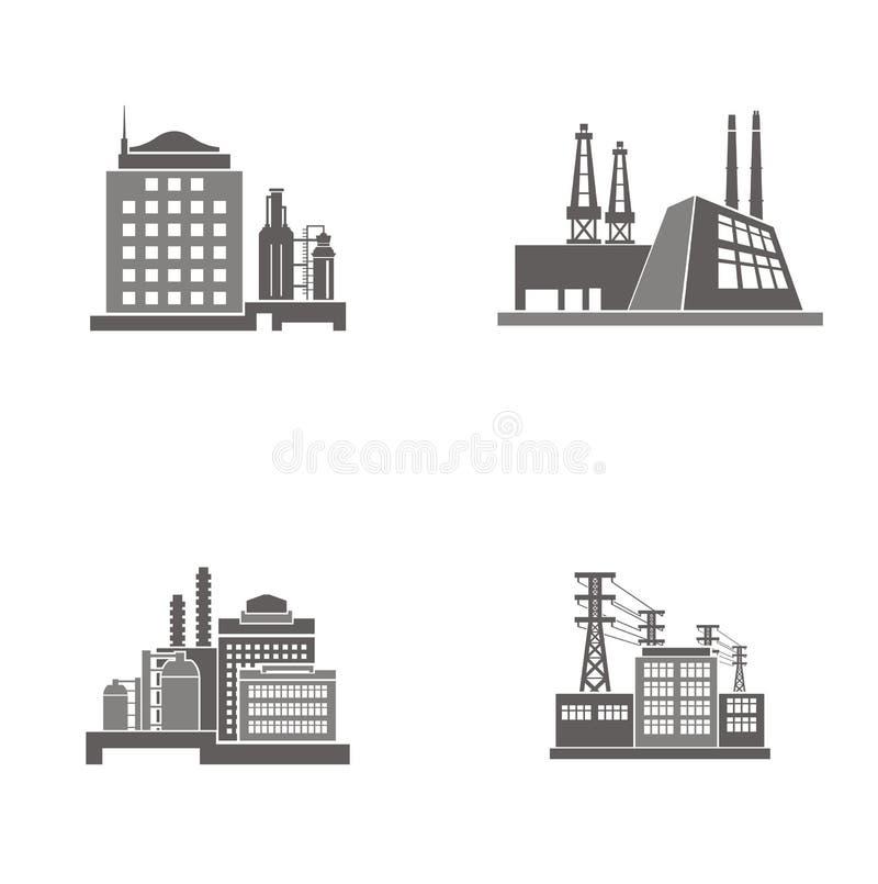 κτήρια βιομηχανικά απεικόνιση αποθεμάτων