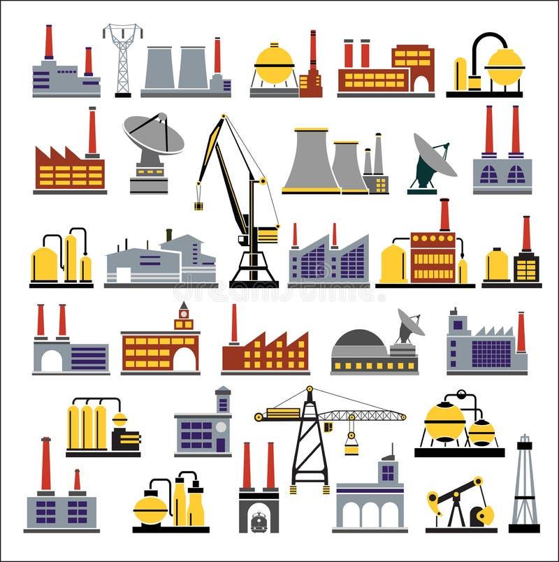 κτήρια βιομηχανικά διανυσματική απεικόνιση
