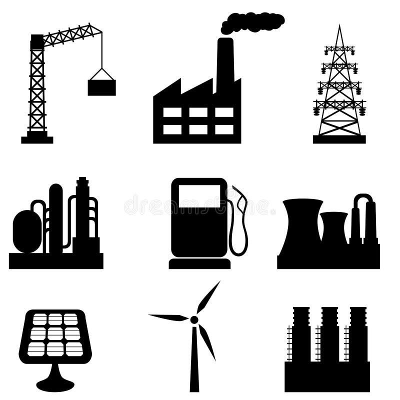 κτήρια βιομηχανικά ελεύθερη απεικόνιση δικαιώματος