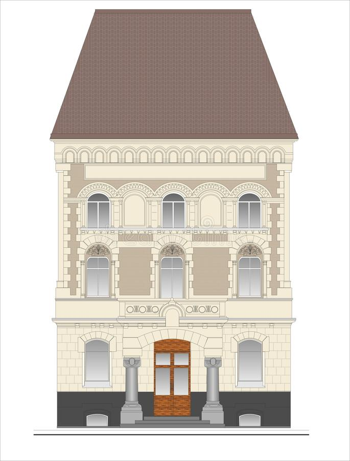 Κτήρια και δομές του πρόωρου και μέσου 20ου αιώνα ελεύθερη απεικόνιση δικαιώματος