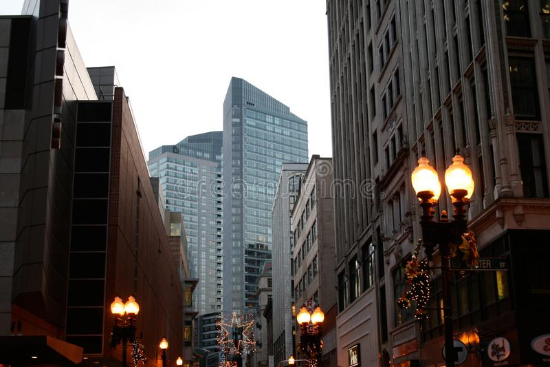 Κτήρια κεντρικός να διασχίσει στη Βοστώνη στοκ εικόνα με δικαίωμα ελεύθερης χρήσης
