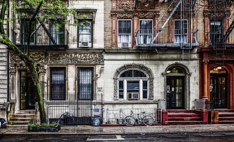 Κτήρια κουζινών της πόλη-κόλασης της Νέας Υόρκης στοκ εικόνες με δικαίωμα ελεύθερης χρήσης