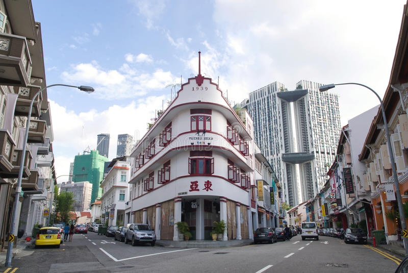 Κτήρια κληρονομιάς της Σιγκαπούρης Chinatown στοκ εικόνες