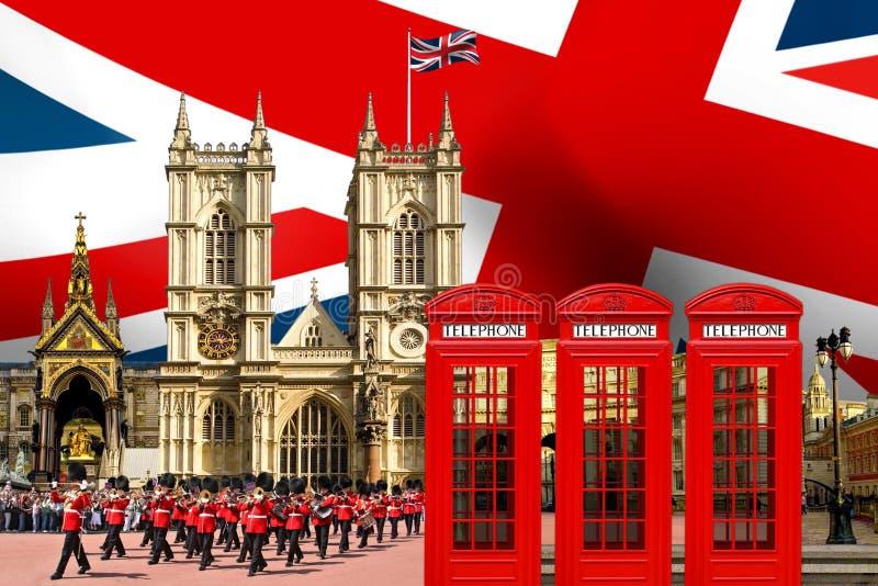 Κτήρια ορόσημων οριζόντων του Λονδίνου στοκ εικόνες