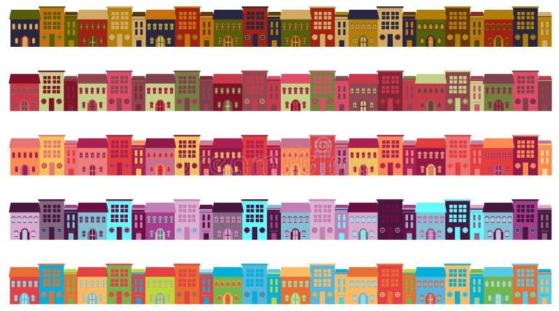 Κτήρια πόλεων απεικόνιση αποθεμάτων