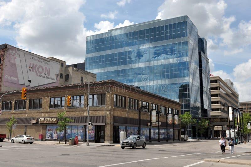 Κτήρια σε στο κέντρο της πόλης, Winnipeg στοκ φωτογραφία με δικαίωμα ελεύθερης χρήσης