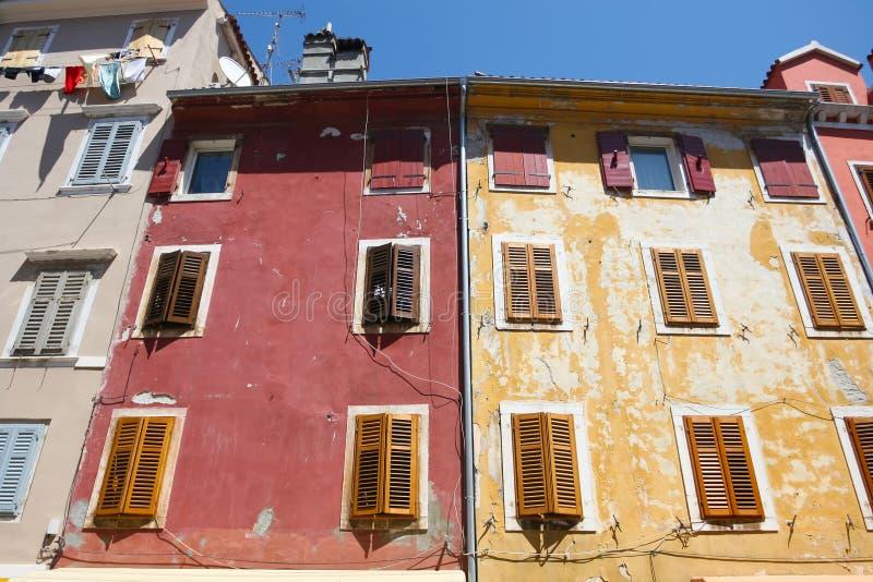 Κτήρια σε Rovinj στοκ φωτογραφία με δικαίωμα ελεύθερης χρήσης